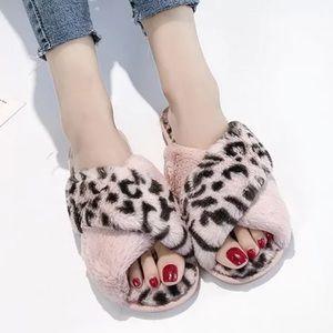 ❤️Quarantine Lounge Slippers in Pink leopard❤️